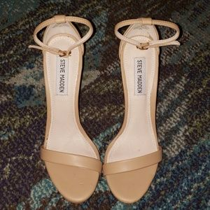 Steve Madden Stecy Natural Ankle Strap Heels 7.5